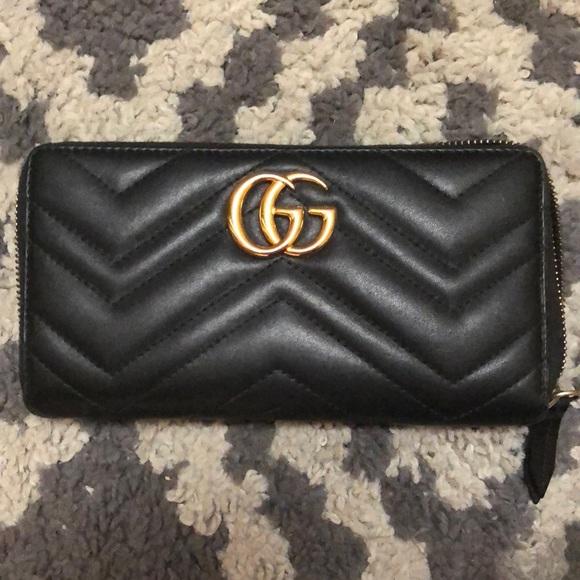 96f6c6287866 Gucci Bags | Gg Marmont Zip Around Wallet | Poshmark